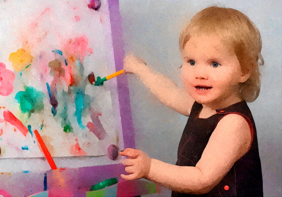 Переместите внимание ребенка на другие поверхности для рисования